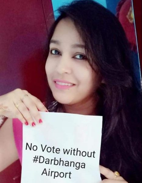 No vote without Darbhanga Airport #NoVoteWithoutAirport